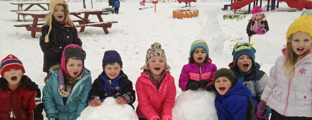 Preschool in the Snow